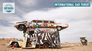 Link naar het International Car Forest in Goldfield - Nevada